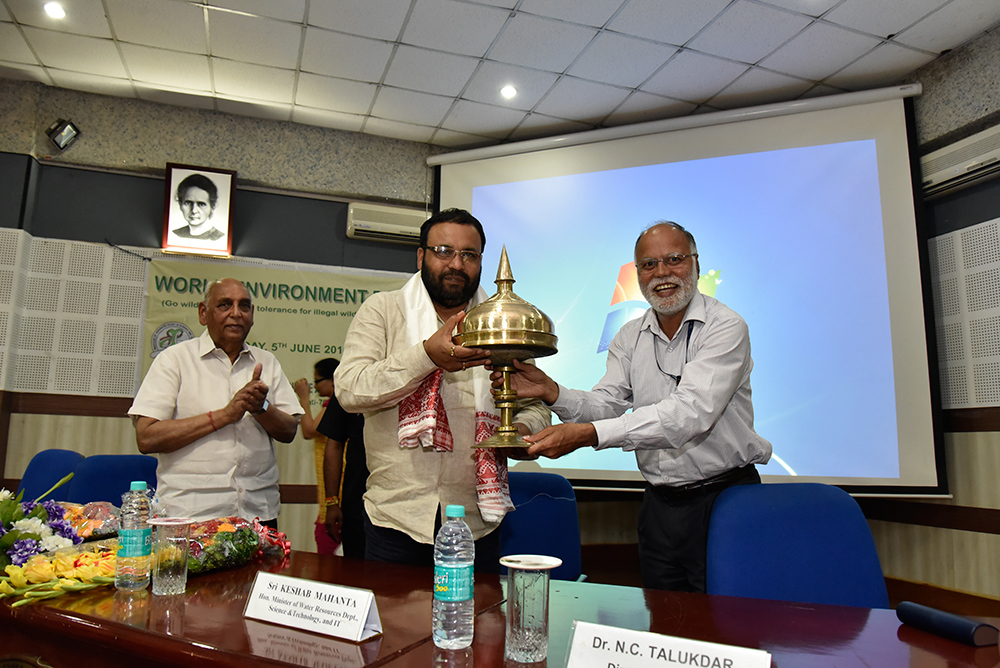 Facilitation of Sci & Tech Minister (Chief Guest), Govt of Assam